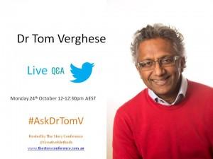 Dr Tom Verghese-TwitterQandA